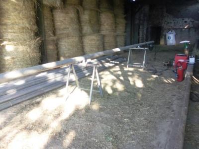 REPARATION DE TUYAUX DIRIGATION EN ALUMINIUM MODEMA AGRICOLE