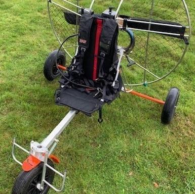 chariot de paramoteur inox orange volumetal 49 puy saint bonnet