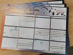 Calendriers 2021 Volumetal souples sur le thème des paramoteurs