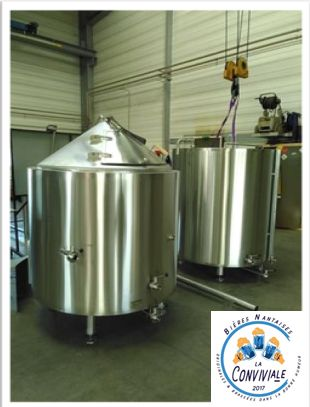2 cuves inox pour brasserie